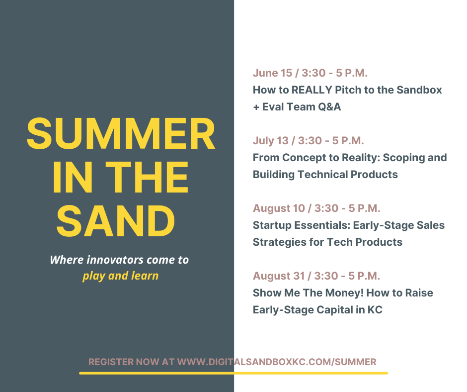 Summer in the Sand, a series for KC Tech Entrepreneurs